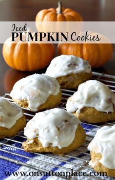 Easy Pumpkin Recipes | My Favorites | Iced Pumpkin Cookies | Five easy pumpkin recipes perfect for fall family gatherings. Make for snacks or desserts.