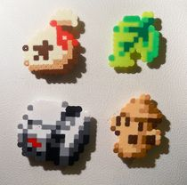 AMAZING Animal Crossing things made from Perler beads. :)