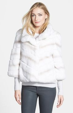 Belle Fare Genuine Rex Rabbit Fur Crop Jacket available at #Nordstrom