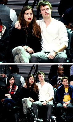 Ansel Elgort and Violetta Komyshan State Farm All-Star Saturday Night - NBA All-Star Weekend 2015 at Barclays Center [February 14, 2015]