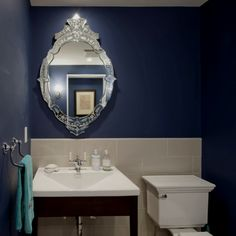Intricate bathroom mirror