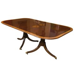Fine Georgian Style Banding Dining Table Possibly Baker