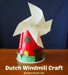 Dutch Windmill Craft for Kids