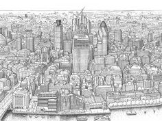 Mike Hall, creator of cityscape views, maps, architectural drawings and character studies