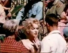 "Marilyn on the set of ""Bus Stop"", 1956."