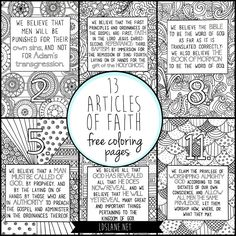 5 Free Sacrament Meeting Activities For Kids That Will Help Them Listen At The Same Time! LDS S M I L E is part of 13 articles of faith - Article of Faith Coloring Pages … Sunday Activities, Primary Activities, Activities For Girls, Primary Lessons, Church Activities, Book Activities, General Conference Activities For Kids, Indoor Activities, Educational Activities