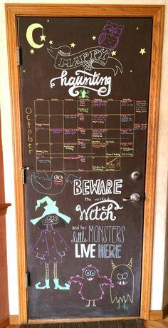 October 2014 Chalkboard Calendar