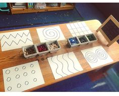 Lines, Dots and So Much More! finemotor prewritingskills kindergarten prek is part of Preschool fine motor - Motor Skills Activities, Montessori Activities, Kindergarten Activities, Toddler Activities, Preschool Activities, Preschool Tables, Reggio Inspired Classrooms, Reggio Classroom, Play Based Learning