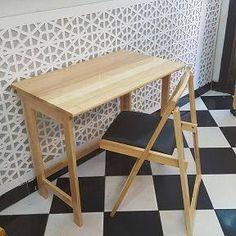 Bàn ghế xếp Hà Nội | Giải pháp cho nhà diện tích nhỏ. Bàn xếp đa năng chữ U vừa là bàn học, vừa là bàn làm việc.