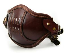 STEAMPUNK LEATHER Mask brown leather SMPL/a Raider by MannAndCo