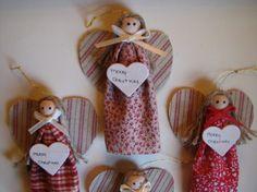 Clothespin ornaments angels