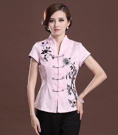 9a363c4384e96 Traditional Chinese Floral Embroidery Top