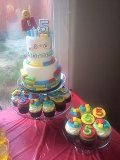 Lego birthday cake / cupcakes