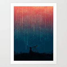 Buy Meteor rain by Budi Kwan as a high quality Art Print. Worldwide shipping available at Society6.com. Just one of millions of products available.