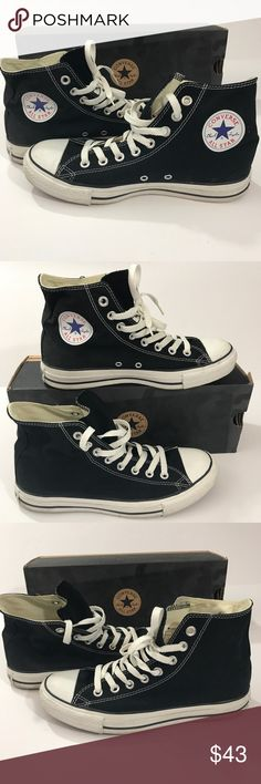 Converse all star chuck Taylor black size 7 men's Converse all star chick Taylor's Black Size 7 men's / size 9 women's  Flawless pre owned condition  Ask questions if needed and see all photos!!  💨 FAST 2-3 day shipping to your door! 😍BUNDLE for 20% off in my closet.😍 Converse Shoes Sneakers