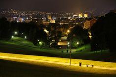 Oslo, Norway - at night.
