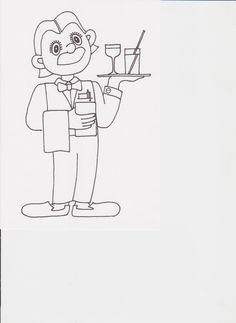 číšník omalovánka Bart Simpson, Comics, Fictional Characters, Comic Book, Fantasy Characters, Comic Books, Comic, Comic Strips, Comics And Cartoons