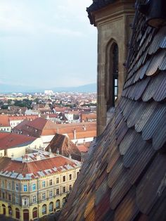 Sibiu, from top. The place where houses have eyes. #sibiu #romania