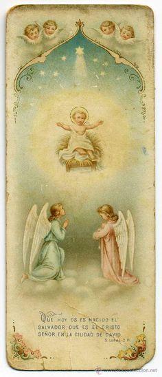 estampa 1ª comunion, mª luisa medinilla cañaveral, malaga 1905 - niño jesus - angeles (Postales - Religiosas y Recordatorios)