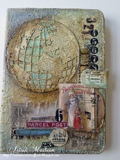 Hello all and lovely to see you drop in here! Today I want to share an altered cover I did for my mini Ipad. A while back I purchased this rather ugly cover with a view to altering it, but then it got