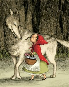short stories for kids Illustrations, Photo Illustration, Anima And Animus, Red Riding Hood Wolf, Charles Perrault, Short Stories For Kids, Big Bad Wolf, Red Hood, Little Red
