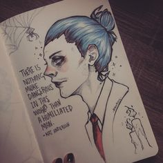 """530 Likes, 79 Comments - my name is aseel (@alienaseel) on Instagram: """"AHS cult ✨ I like his blue hair """""""