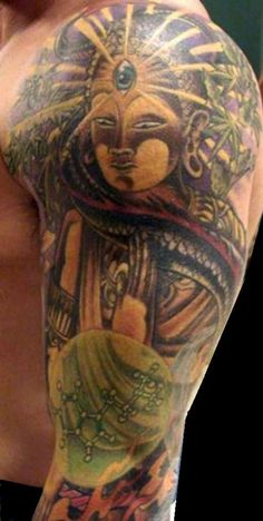 ef874781a sacred body art that depicts joe's d. trip where he hallucinated and saw an…