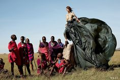 Keira Knightley photographed by Arthur Elgort for Vogue - African safari shoot, June 2007