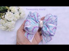 Diy Bow, Diy Hair Bows, Ribbon Hair, Hair Bow Tutorial, Doll Tutorial, Felt Hair Clips, Bow Hair Clips, Origami Gift Bag, Baby Tiara