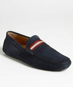 97e06cef7d002f Mens navy blue suede loafers Loafers Outfit