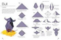 An origami bull. Cool!