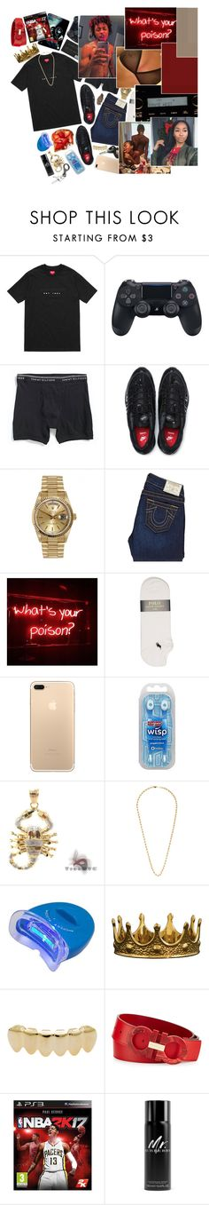 """『 WHY SHE KEEP CALLIN MY PHONE SPEAKIN SEXUALLY? 』"" by d-ripping ❤ liked on Polyvore featuring NIKE, Rolex, True Religion, Polo Ralph Lauren, Porsche, Colgate, Seletti, Salvatore Ferragamo, Burberry and men's fashion"