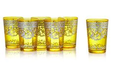 S/6 Moroccan Tea Glasses, Yellow on OneKingsLane.com