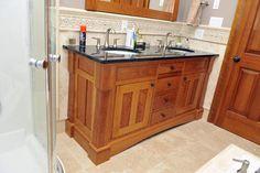 bathroom with maple trim - Google Search