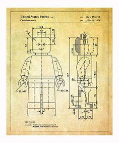 Take a look at this Lego 'Toy Figure' 1979 Art Print by Oliver Gal on #zulily today!