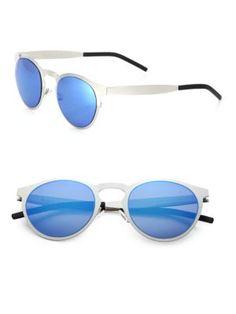 ba3dcf94e401 ILLESTEVA Le Steel 47MM Round Sunglasses.  illesteva  sunglasses