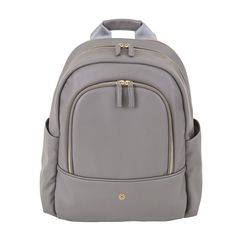 Madeline & Company Grey Faux Leather Backpack - Laptop/School Backpack for Girls, Striped Lining & Lots of Pockets, Perfect for College or Travel Bag - Works ju Best Diaper Bag, Diaper Backpack, Backpack Bags, Diaper Bags, Travel Backpack, Backpacks For Sale, Girl Backpacks, School Backpacks, Leather Laptop Backpack