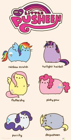 Pusheen + My Little Pony