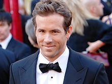 Ryan Reynolds - chosen again, this time by Helen and looking very dapper!