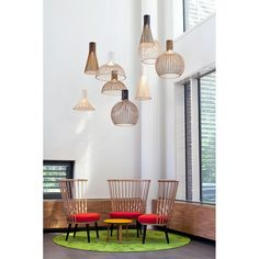 Beautiful Wood Lamps Handmade in Finland - Secto Design Lamps by Seppo Koho Lamp Design, Wood Lamps, Best Interior, House Design, Interior Design Inspiration, Best Interior Design, Dining Room Lighting, Home Decor, Interior Design Shows