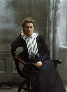 Marie Curie, ca. 1905, autochrome