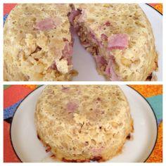 Voici une recette de bowlcake salé. Avec Weight Watchers.