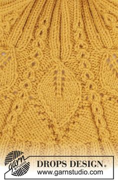 Ravelry: Hello Sunshine Wrist Warmers pattern by DROPS design Sweater Knitting Patterns, Lace Knitting, Knitting Stitches, Knitting Designs, Knit Patterns, Stitch Patterns, Drops Design, Bonnet Crochet, Knitting For Charity