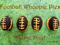 Cowgirl Football Whoopie Pies! - Cookin' Cowgirl
