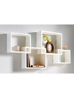 Wand- #Regal mit vier einzelnen Elementen; individuell zusammensteckbar