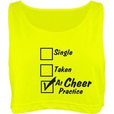 At Cheer Practice: Custom Misses American Apparel Neon Oversized Crop Top Tank Top - Customized Girl Basketball Mom Shirts, Cheerleading Shirts, Cheer Stunts, Competitive Cheerleading, Cheerleading Workouts, Cheer Practice Outfits, Cheer Outfits, Varsity Cheer, Football Cheer