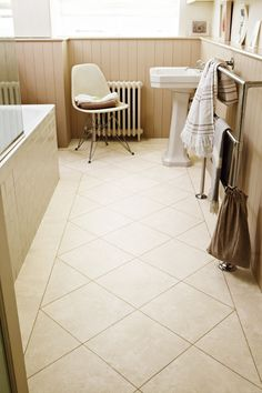 This stone effect tile gives a really clean, smooth stone look that works in almost any space. The gentle mottled pattern and fresh, almost porcelain tones help create a sense of airiness and space. Karndean Knight Tile, Karndean Design Flooring, Waterproof Bathroom Flooring, Luxury Vinyl Flooring, Vinyl Tiles, Tile Floor, Stone, Wing Master, Home Decor