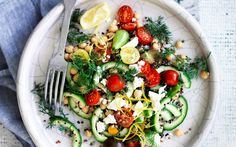 Lemon and dill chickpea salad recipe   FOOD TO LOVE