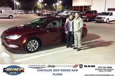 https://flic.kr/p/AX7o9F | Happy Anniversary to Ginger on your #Chrysler #200 from Ed Lewis at Huffines Chrysler Jeep Dodge RAM Plano | deliverymaxx.com/DealerReviews.aspx?DealerCode=PMMM