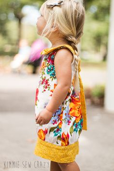 Adelaide by Violette Field Threads (I LOVE the floral pattern and the Peter Pan collar with the long tie in the back!)